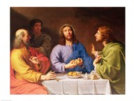 The Supper at Emmaus  Fine Art Print