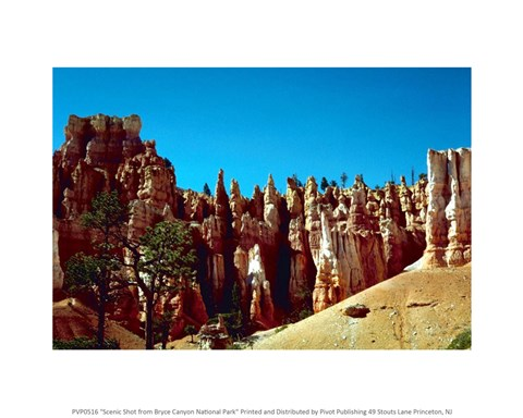 Framed Scenic Shot from Bryce Canyon National Park Print