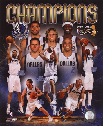 Framed Dallas Mavericks 2011 NBA Finals Championship Composite Print