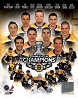 Boston Bruins 2011 NHL Stanley Cup Championship Composite Art