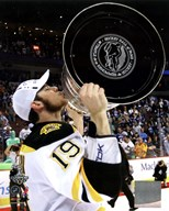 Tyler Seguin with the Stanley Cup  Game 7 of the 2011 NHL Stanley Cup Finals(#49) Art