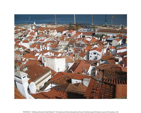 Framed Alfama District Red Roofs Print