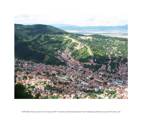 Framed Brasov Seen from Tampa Hill Print