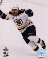 Brad Marchand Goal Celebration Game 7 of the 2011 NHL Stanley Cup Finals(#53)  Fine Art Print