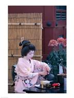 Geisha, Tokyo, Honshu, Japan  Fine Art Print
