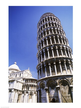 Framed Leaning Tower  Pisa, Italy Print