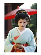 Young woman dressed as a Geisha, Japan  Fine Art Print