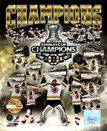 Boston Bruins 2011 NHL Stanley Cup Finals Champions Limited Edition PF Gold (5000 8x10's, 500 each enlargement size) Art