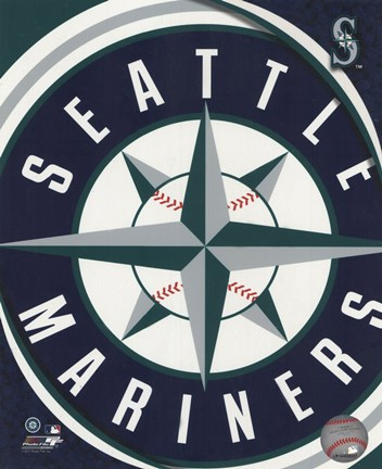 Framed 2011 Seattle Mariners Team Logo Print