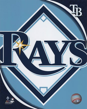 Framed 2011 Tampa Bay Rays Team Logo Print