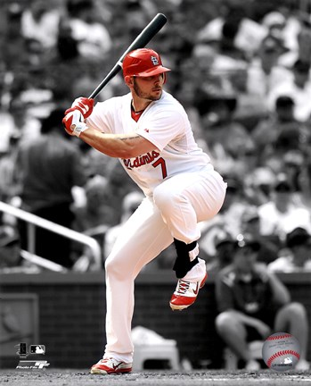 Framed Matt Holliday 2011 Spotlight Action Print