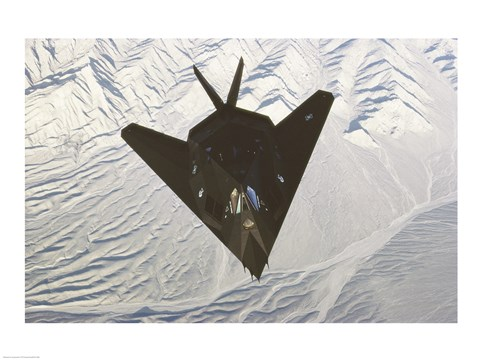 Framed Lockheed F-117 Stealth Fighter Print