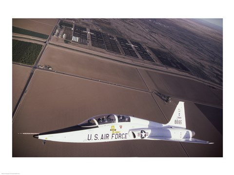 Framed U.S. Air Force T-38 Trainer Print