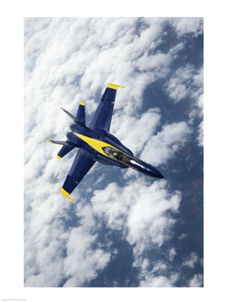 Framed U.S. Navy Blue Angels F-18 Hornets flying Print