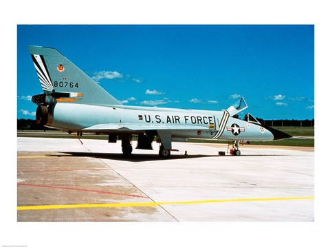 Framed Side profile of a US Air Force airplane Print