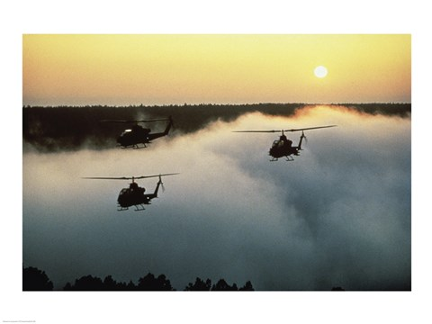 Framed AH-16 (Cobras) Attack Helicopters Print