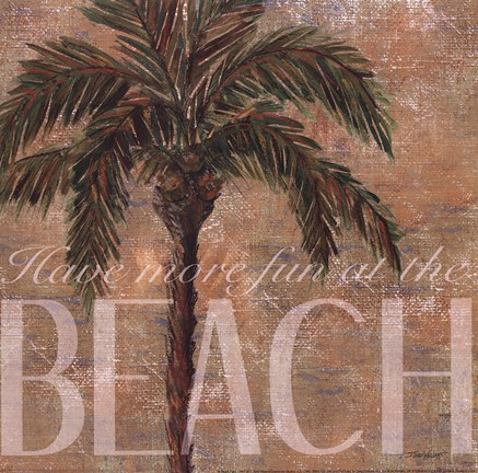 Framed Beach Palm Print