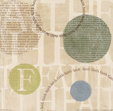 Framed Circle of Words - Faith Print