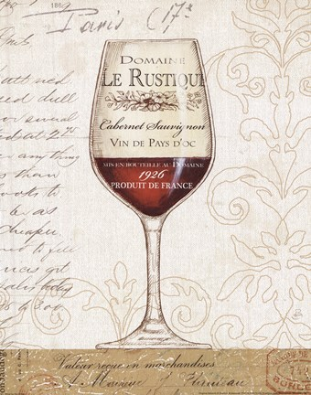 Framed Wine by the Glass I Print