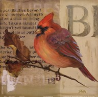 Red Love Birds I  Fine Art Print