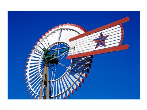 Framed Texas Star Windmill Print