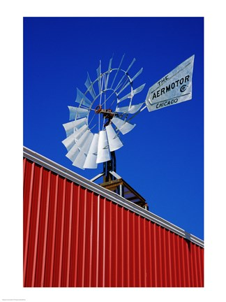 Framed Close angle view of a windmill at American Wind Power Center, Lubbock, Texas, USA Print