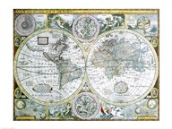 Close-up of a world map, John Speed, 1626