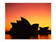 Sunrise over an opera house, Sydney Opera House, Sydney, Australia Art