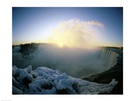 Sunrise over a waterfall, Niagara Falls, Ontario, Canada