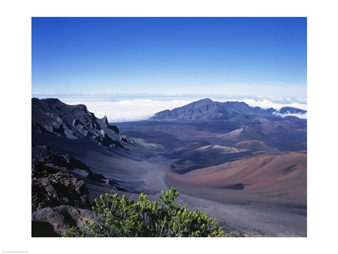 Framed Haleakala Crater Haleakala National Park Maui Hawaii, USA Print