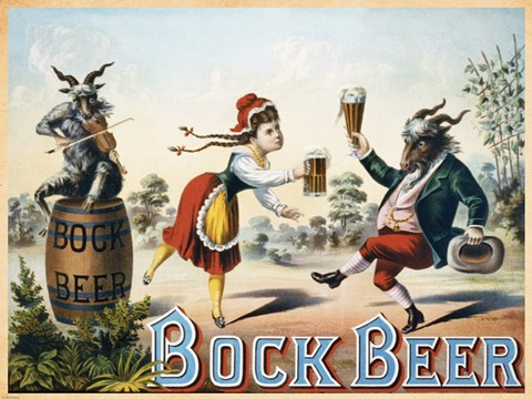 Framed Bock Beer Print