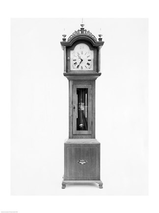 Framed Antique grandfather clock Print