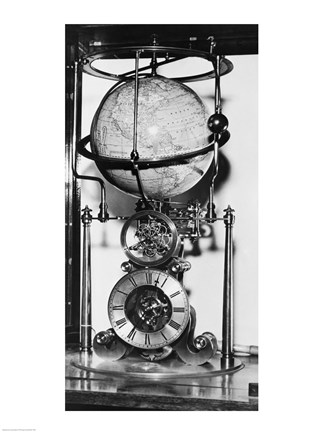 Framed American clock built in 1880 from the James Arthur Collection of Clocks and Watches, New York University Print