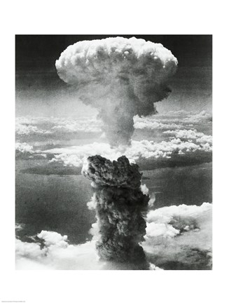 Mushroom Cloud Formed By Atomic Bomb Explosion Nagasaki
