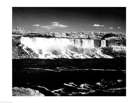 Framed Canada, Niagara Falls, Infrared view, taken from Canadian side Print