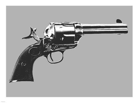 Framed Colt Single Action Revolver Print