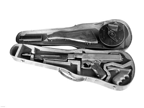 Tommy Gun In A Violin Case Fine Art Print By Unknown At