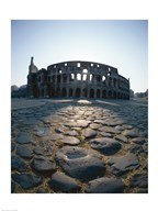 Low angle view of an old ruin, Colosseum, Rome, Italy Art