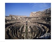 High angle view of a coliseum, Colosseum, Rome, Italy  Fine Art Print