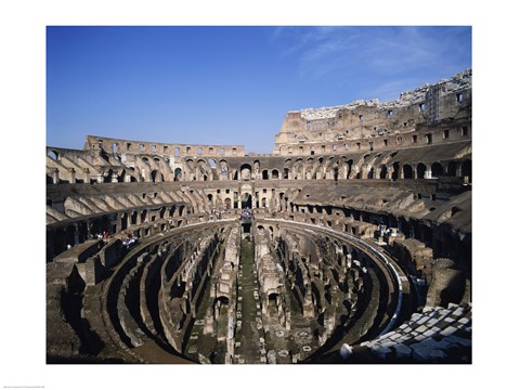 Framed High angle view of a coliseum, Colosseum, Rome, Italy Print