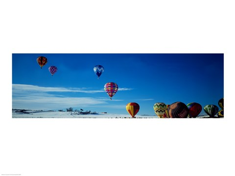 Framed Hot Air Balloons New Mexico USA Print