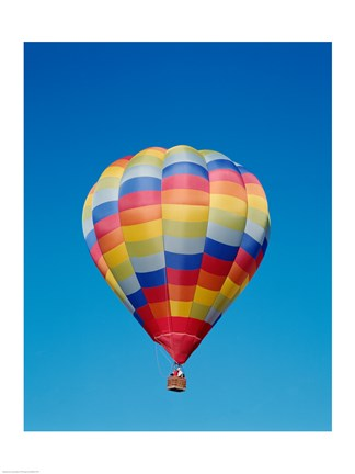 Framed Low angle view of a hot air balloon in the sky, Albuquerque, New Mexico, USA Print
