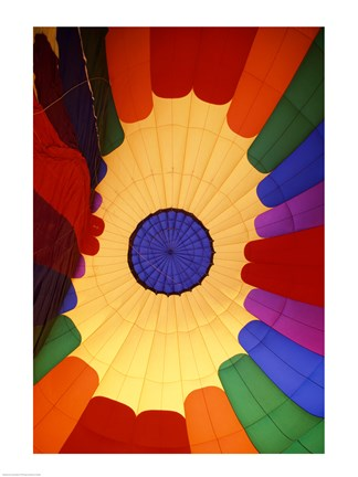Framed Close-up of a hot air balloon, Steamboat Springs, Routt county, Colorado, USA Print