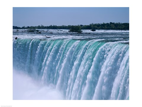 Close Up Of A Waterfall Niagara Falls Ontario Canada