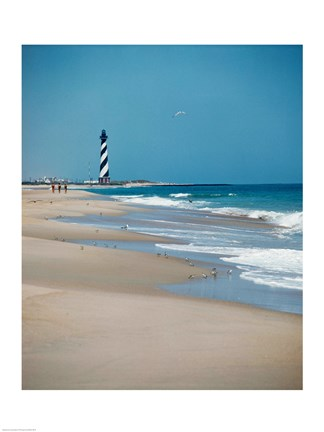 Framed Cape Hatteras Lighthouse Cape Hatteras National Seashore North Carolina USA Prior to 1999 Relocation Print