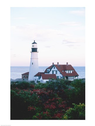 Framed Portland Head Lighthouse Cape And Field Elizabeth Maine USA Print