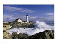 Portland Head Lighthouse Cape Elizabeth Maine  USA Art