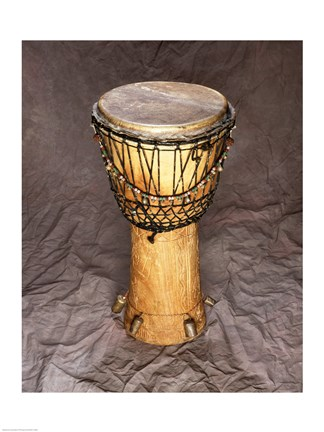 Framed Djembe Drum West Africa Print