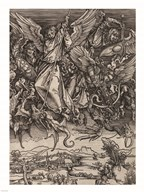St. Michael Fighting the Dragon by Albrecht Durer, 1498  Fine Art Print