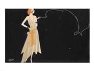 Woman Smoking  Fine Art Print
